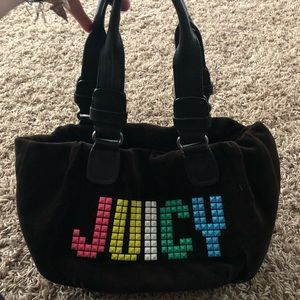 Juicy Couture used black purse